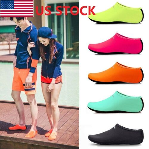USA Women Men Skin Water Shoes Beach Socks Yoga Exercise Poo
