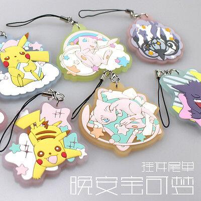 Eevee Pikachu Mew Gengar Chandelure Pokemon Pocket Monster Key chain Acrylic Sa (Pokemon Gengar Kostüm)