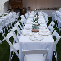 Rent,  Resins chairs,  Chiavari,  Folding chairs,  Table Rental