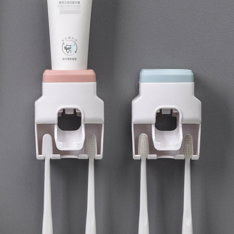 Automatic Toothpaste Dispenser Wall Mount Toothpaste Squeezer Holder Bathroom
