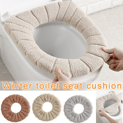 - Bathroom Toilet Seat Cushion Closestool Washable Soft Warmer Mat Cover Pad