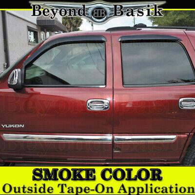 2000-2006 CHEVY TAHOE GMC YUKON 4PC Smoke Door Vent Window Visor Rain Guards