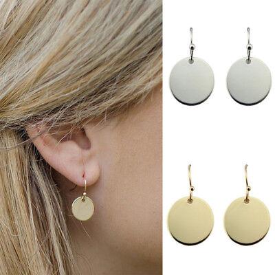 Classic Bar Earrings (Fashion Monogram Blanks Flat Round Disc Dangle Earrings Classic Bar Drop)