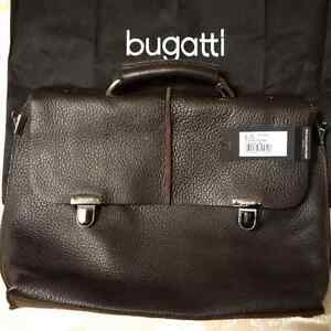 BUGATTI LEATHER BRIEFCASE / COMPUTER BAG  NEW (NEVER USED ) Cambridge Kitchener Area image 3