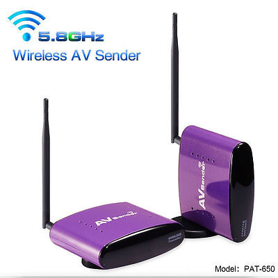 PAT-650 5.8GHz AV CCTV Camera DVR Wireless Transmitter Receiver Sender 990FT US!