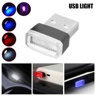 4pcs Mini USB LED Light Colorful Light Lamp For Car Atmosphere -