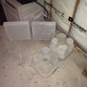 $10 · TWO Concrete Deck Blocks - TWO - 12 Inch x 12 Inch cement