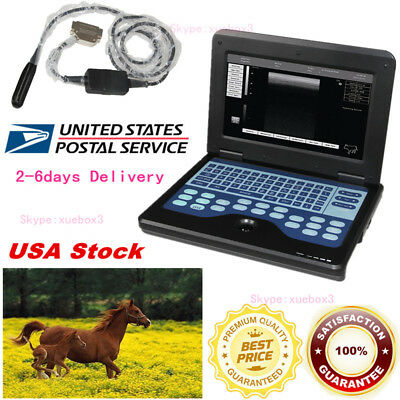 Vet Veterinary Portable Ultrasound Scanner Machine For Animals7.5m Rectal Probe
