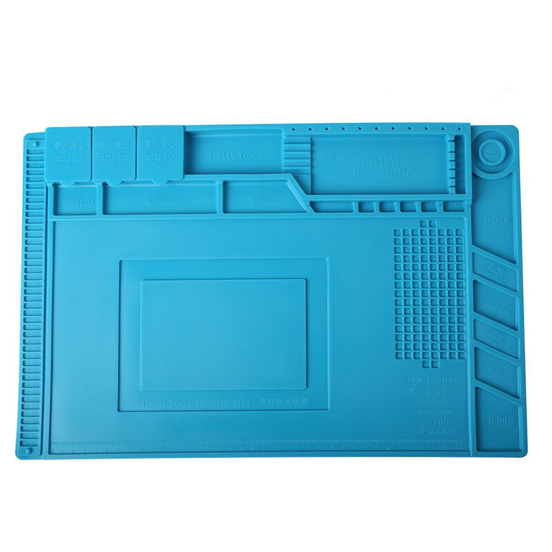 Magnetic Heat Silicone Pad Desk Mat Soldering Repair For BGA