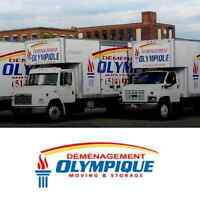 OLYMPIQUE MOVING & STORAGE CALL US NOW
