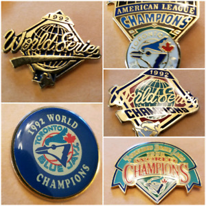 Blue Jays '92 Pins World Series & AL Champions