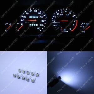 10x White T5 73 74 79 Instrument Gauge Dash Dashboard LED Light Bulb For Nissan