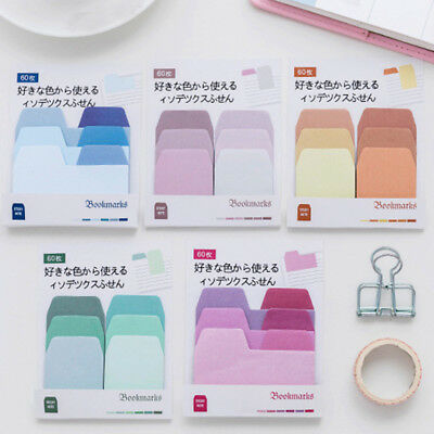 60 Pages Sticker Post Gradient Bookmark Point Marker Notepad Paper Sticky Notes
