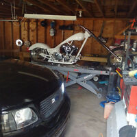 Custom Chopper Project with Handy Lift
