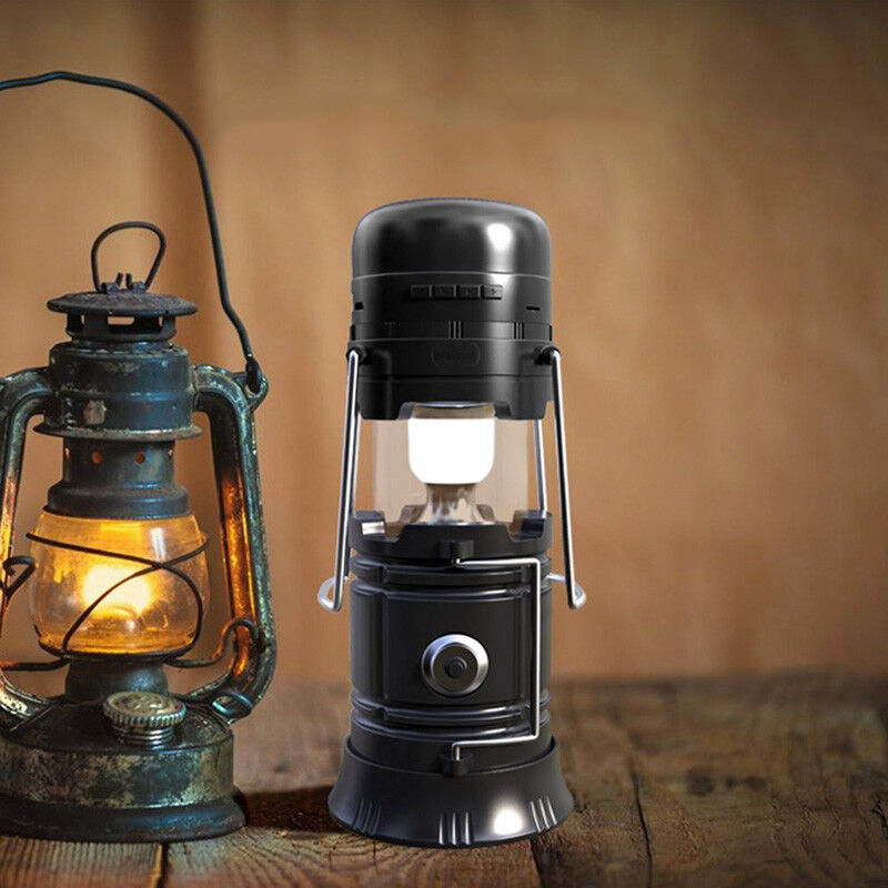 Lampada Lanterna Camping campeggio solare Bluetooth Torcia LED Speaker Radio FM