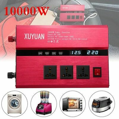 8000/10000 Car Solar Power Inverter DC12/24V to AC 110/220V Sine Wave Converter Dc Power Inverter