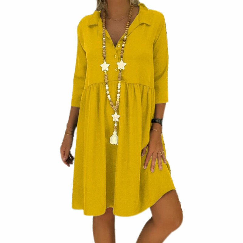 Details about Plus Size Women Mini T-shirt Smock Dress Swing Casual Baggy  Holiday Beach Tunic