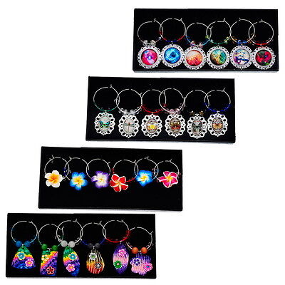 1Box(6PCS ) Mixed Wine Glass Charm  ...