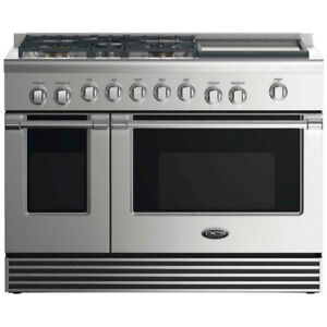 "DCS 48"" GAS RANGE: 5 BURNERS WITH GRIDDLE"