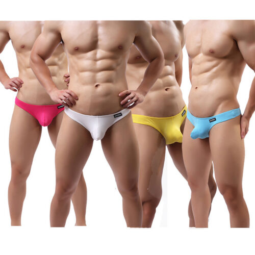 Купить CLEVER-MENMODE Men's Low-rise Bulge Pouch Thong T-back G-string Bikini Underwear