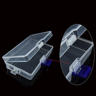 Rectangular Plástico Transparente Funda Almacenaje Caja Colección Organizador