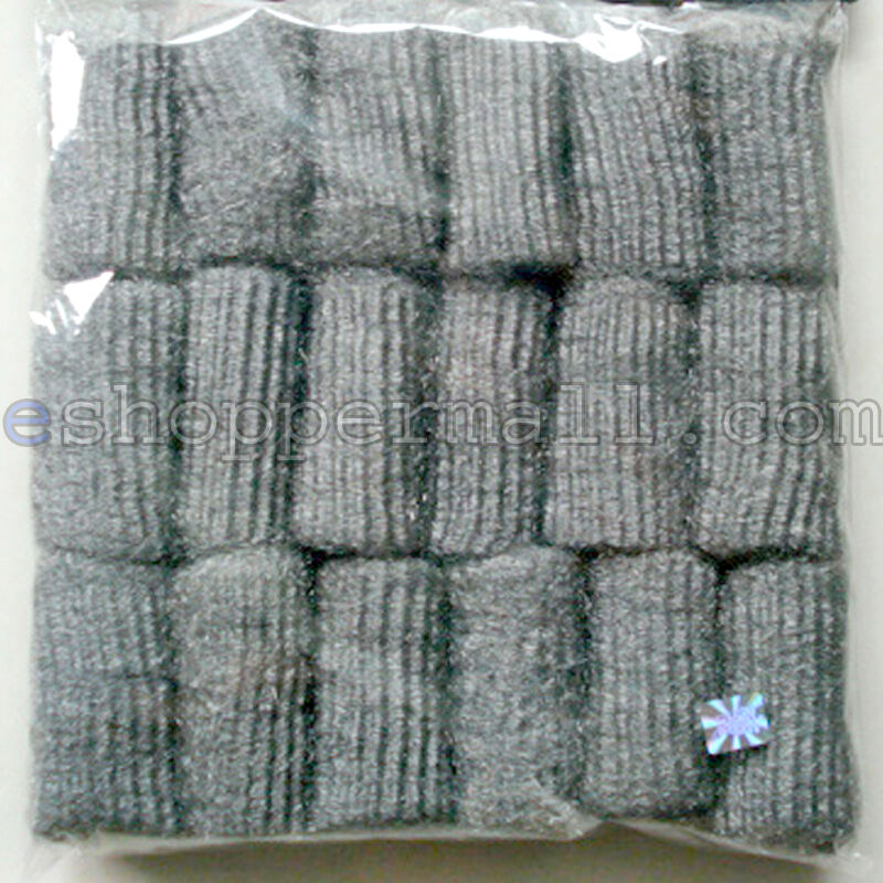 """18 Pads 3""""L x 1"""" Diam. Steel Wool, Cleans & Shines Great For Kitchen, House BN18"""