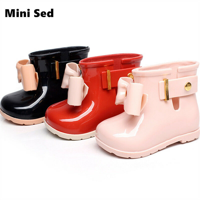 Baby Jelly shoes For Girl Bow Rain Boot Girls Sandal Cute Girls Rainboots
