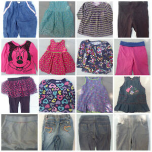 Size 18 Months Lot 16 Baby Girls Piece Clothes Shirts Pants Dres