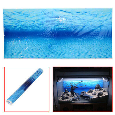 Blue Sea Ocean Aquarium Clear Background Poster Picture Fish Tank Wall Decor