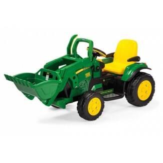 John Deere Ground Loader 12v Kids Ride On Tractor Digger With Sco