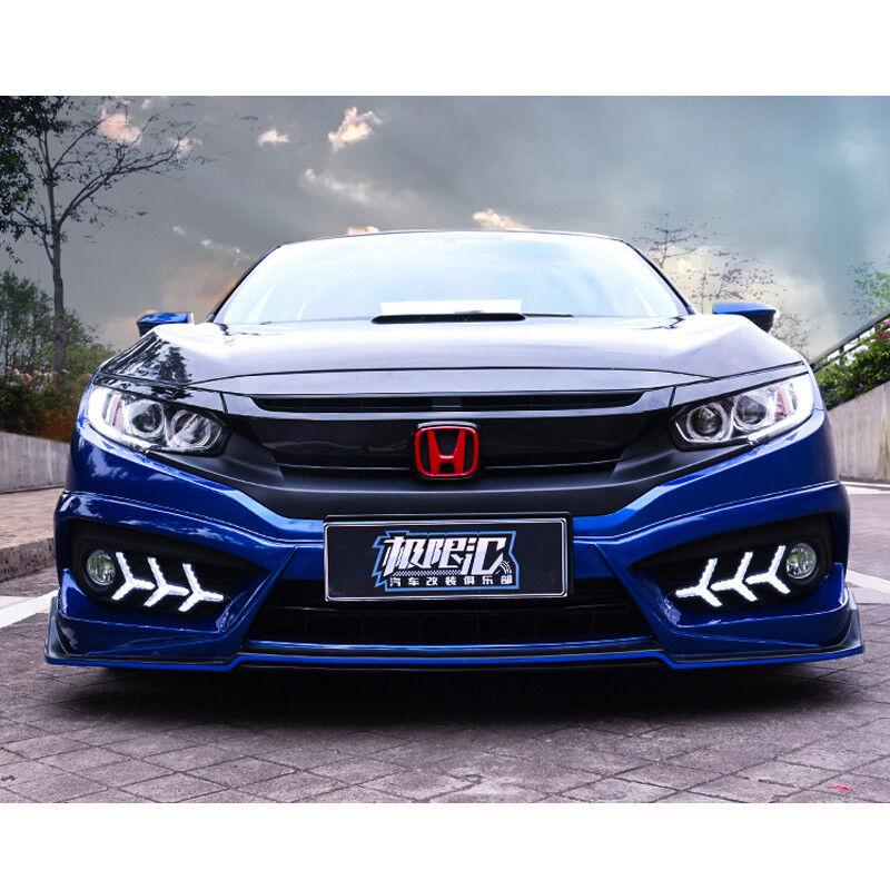 10th Gen Civic >> Details About 2016 2018 Red Front Rear H Emblem Badge For Honda 10th Gen Civic Sedan 4door