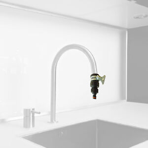 Rubber kitchen mixer tap connector easy connection to your garden hose ebay - Connect hose to kitchen tap ...