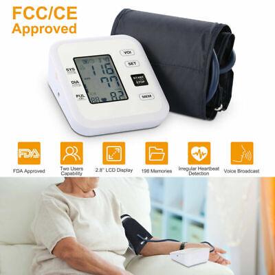 Digital Arm Blood Pressure Monitor Heart Beat Meter Portable Home Health Care