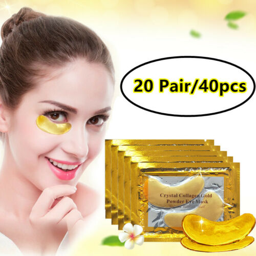 40pcs Anti Aging Crystal Collagen Powder Eye Mask Patch Wrinkle Dark Circle Eye Treatments & Masks