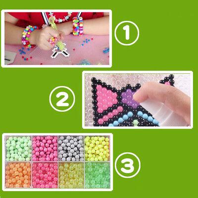 5200pcs Aqua Beads Glitzer Basteln Kinder Bastelset Glitzerperlen Perlen CNE DE