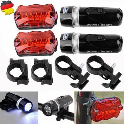 DE LED Fahrradlampe Fahrradbeleuchtung Fahrradlicht Vorne & Hinten Lampeset