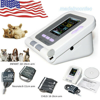Digital Veterinary Blood Pressure Monitor Nibp Machine3 Cuffs Free Software Usa