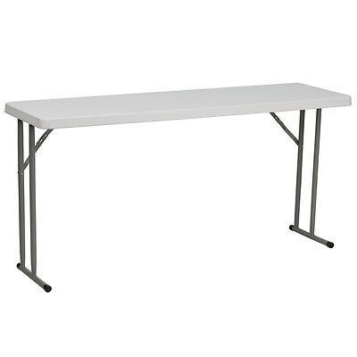 18w X 60l Granite White Plastic Folding Table -seminar Table Training Table