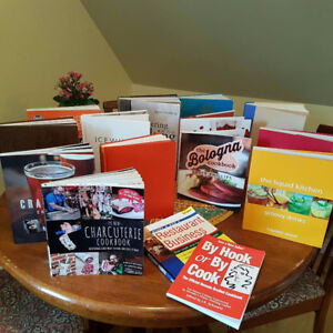 Various Cookbooks and CUlinary Magazines
