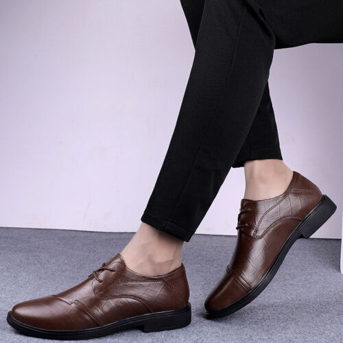 Details about  /38-46 Mens Low Top Business Leisure Shoes Work Oxfords Round Toe Walking Flats L