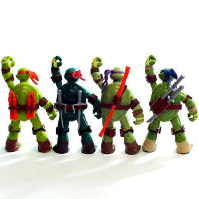 Ninja-Schildkröten Teenage Mutant Ninja Turtles - 4 figuren- Geschenk Spielzeug