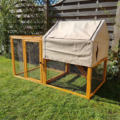 CHICKEN SHELTER & RUN HEN HOUSE POULTRY ARK HOME NEST BOX COOPS RABBIT HUTCH