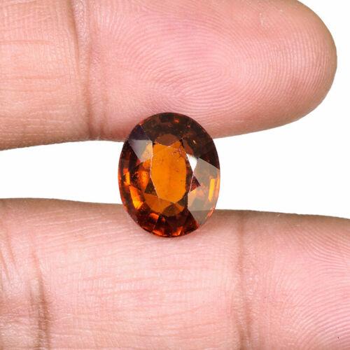 7.09 Cts Certified Natural Hessonite Garnet Sri Lanka Sparkling Orange Gemstone