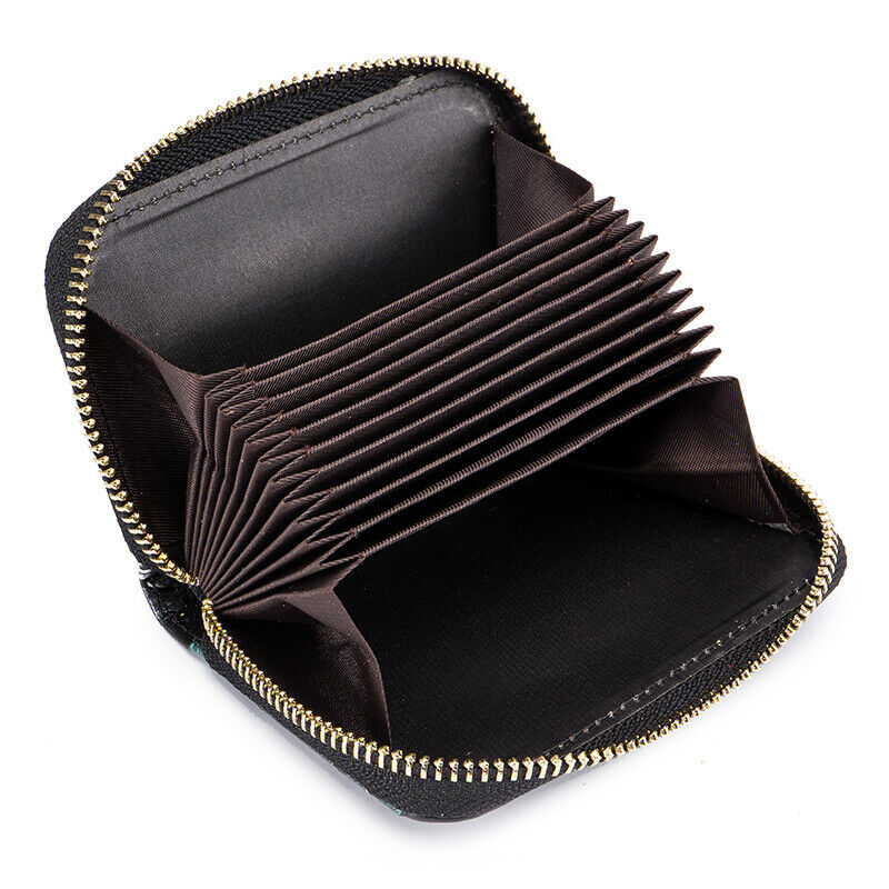 RFID Blocking Credit Card Holder For Women Zipper Leather Card Small Wallet US Clothing, Shoes & Accessories