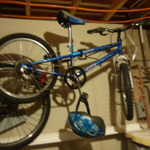 Girl's blue bicycle in excellent condition