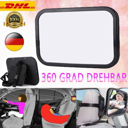 Rücksitzspiegel Baby Kind für Auto Sicherheit Reboard Rückspiegel 360° drehbar D