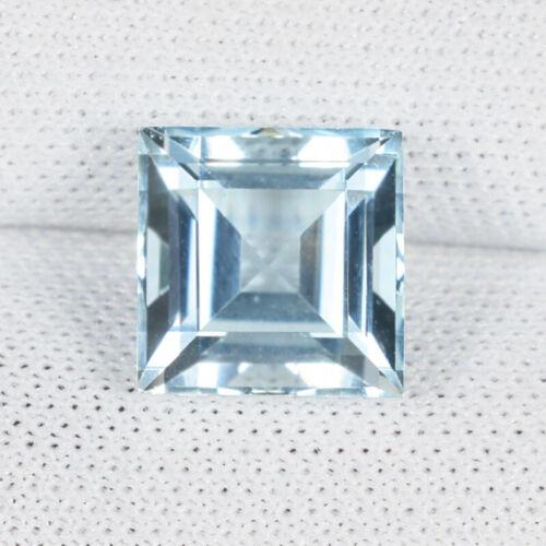 2.07 ct TOP LUSTROUS LIGHT  AQUA BLUE NATURAL AQUAMARINE - Square  See Vdo !!