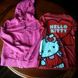 Hello kitty sweater and tshirt