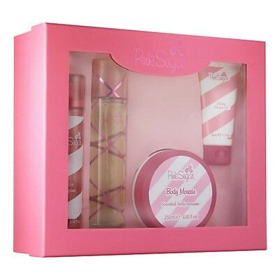 Pink Sugar Women Aquolina EDT Spray 3.4 oz Hair Spray + Body Mousse - Gift Set
