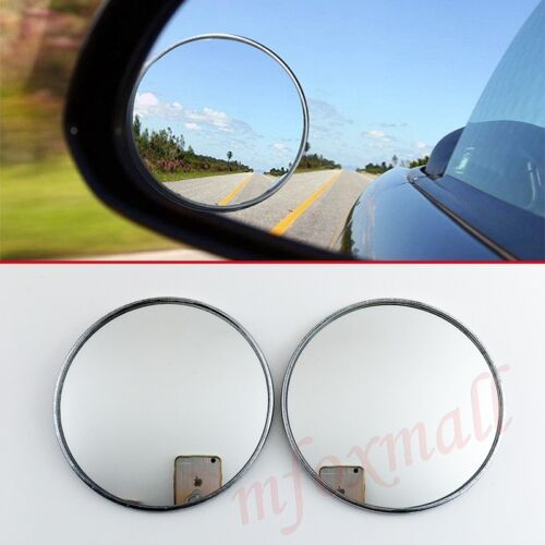 2X Vehicle Rearview Back Blind Spot Mirror Auxiliary Wide Angle Convex Accessory